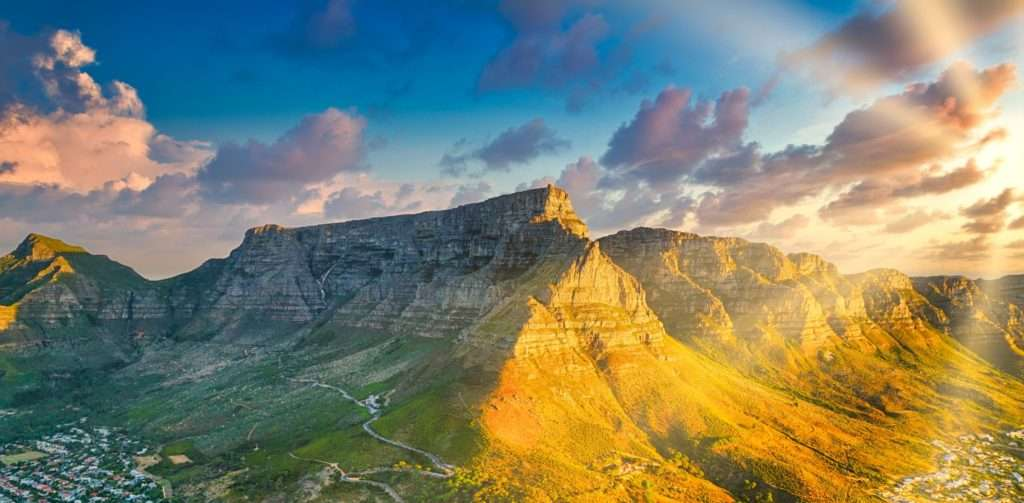 A mountain in South Africa